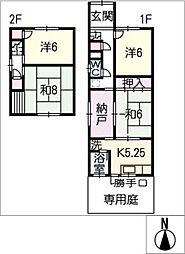 [一戸建] 岐阜県大垣市室本町3丁目 の賃貸【/】の間取り