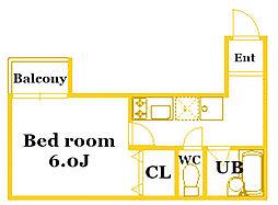 b'CASA TSURUMI[4階]の間取り