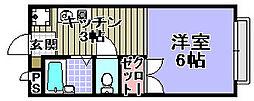 CREST−6[206号室]の間取り