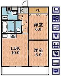 有馬パレス阿倍野[5階]の間取り