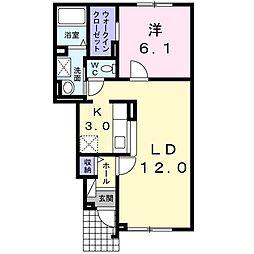 北海道札幌市東区北三十八条東6丁目の賃貸アパートの間取り