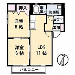Graceful KAWAUCHI I[101号室]の間取り