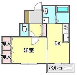 アルファード武庫之荘[2階]の間取り