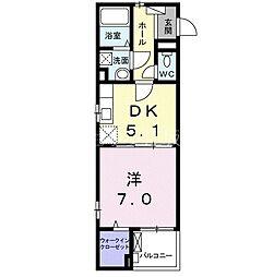 阪急京都本線 淡路駅 徒歩11分の賃貸アパート 2階1DKの間取り