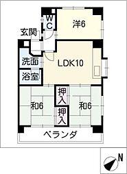 ソシアルドミール 東館[2階]の間取り