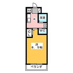 フレッシュタウンSUGIMOTO[4階]の間取り