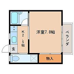 静岡県静岡市葵区瀬名2丁目の賃貸マンションの間取り
