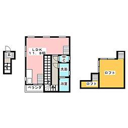 MIZUHO UCHIKATA AP[2階]の間取り