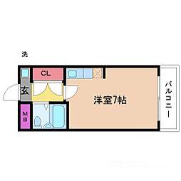 LiAnge東三国[8階]の間取り