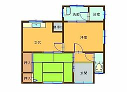 [一戸建] 愛媛県新居浜市河内町 の賃貸【/】の間取り