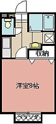 ハッピネスOGURA[101号室]の間取り