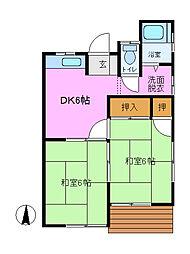 飯田ハイツ 3号棟[1階]の間取り