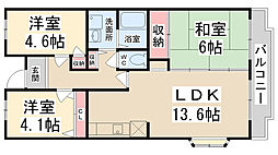 Courtひらき坂(コートヒラキザカ)[5階]の間取り