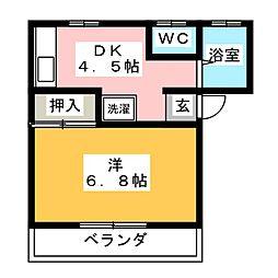 メゾンワルツC[2階]の間取り