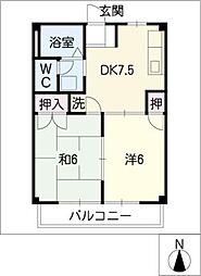 サンヒル B棟[2階]の間取り
