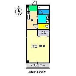 秋櫻館[2階]の間取り
