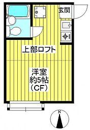 埼玉県さいたま市南区根岸3の賃貸アパートの間取り