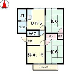 ハイムタムラ[1階]の間取り