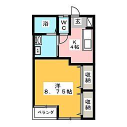 YMパーク622[-1階]の間取り