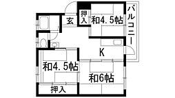 兵庫県宝塚市青葉台1丁目の賃貸マンションの間取り