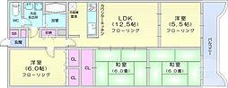 仙台市営南北線 北四番丁駅 徒歩17分の賃貸マンション 4階4LDKの間取り