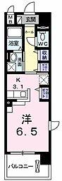 東京都立川市一番町1丁目の賃貸マンションの間取り