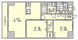 ホワイトピア博多駅南[5階]の間取り