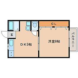静岡県静岡市葵区古庄2丁目の賃貸アパートの間取り