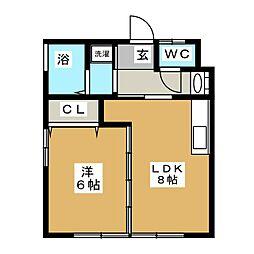 ウィング・アスカ[2階]の間取り