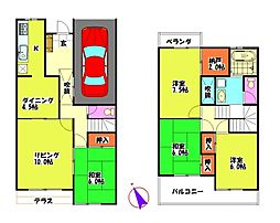 [テラスハウス] 埼玉県坂戸市泉町2丁目 の賃貸【/】の間取り
