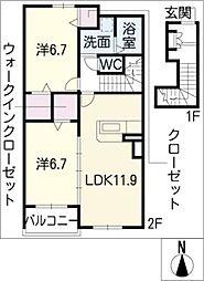 L'Arc−en−ciel[2階]の間取り