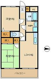 兵庫県尼崎市常松2丁目の賃貸マンションの間取り