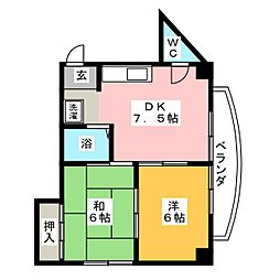 桜ビル[6階]の間取り