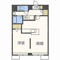 北海道札幌市北区北二十条西5丁目の賃貸マンションの間取り