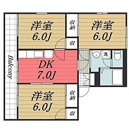 大崎台グリーンタウン6 A[1階]の間取り