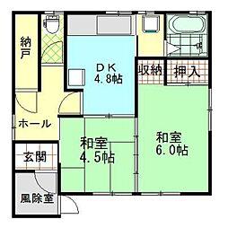 [一戸建] 秋田県横手市大水戸町 の賃貸【/】の間取り