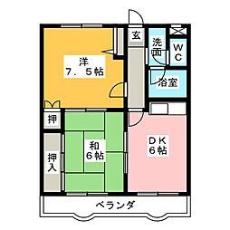 今枝マンション[2階]の間取り