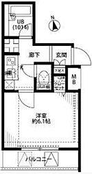 プレール・ドゥーク東新宿[305号室号室]の間取り