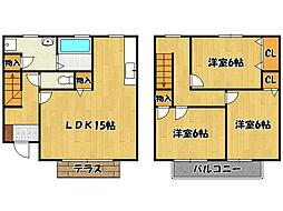 [タウンハウス] 兵庫県神戸市西区伊川谷町潤和 の賃貸【/】の間取り