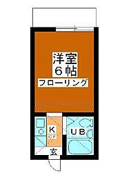 小川コーポ[108号室]の間取り