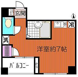 東京都荒川区東尾久1丁目の賃貸マンションの間取り