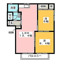 T・ハイツパーク C棟[2階]の間取り