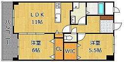 LE GRAND BLEU[2階]の間取り