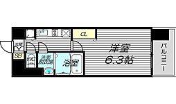 プレサンス梅田東ディアロ[6階]の間取り