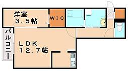 アルバ桜坂[3階]の間取り