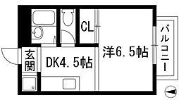エクセレント甲東園[2階]の間取り