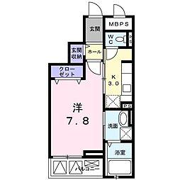 クレメントハウス[0306号室]の間取り