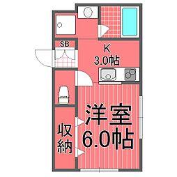 サンフォニー三ツ沢[1階]の間取り