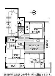 ビレッジハウス万丁目1号棟[3階]の間取り