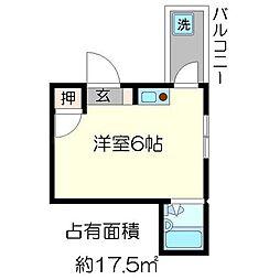 フラッツ太秦[2階]の間取り